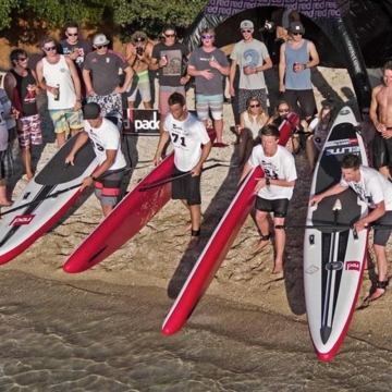 Red Paddle 12'6 Race test